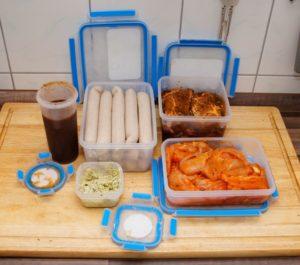 Fleisch marinieren und transportieren leicht gemacht