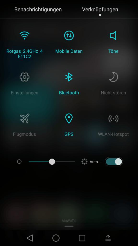 Huawei P8 Verknüpfungen